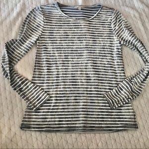 Lucky brand long sleeve stripe shirt size small